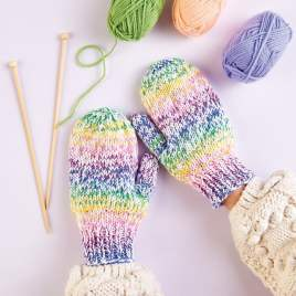 Emmaknitty Exclusive: Colourful Mittens Knitting Pattern