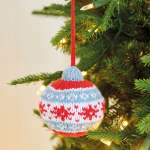 Colourful Christmas Baubles Knitting Pattern