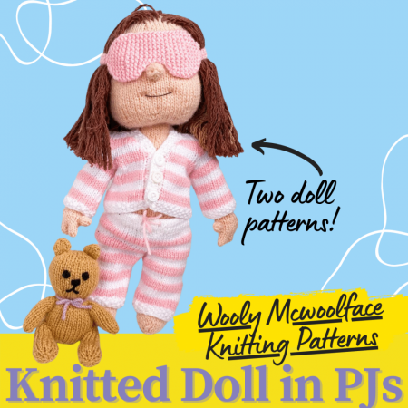 Knitted Doll in Pyjamas Knitting Pattern