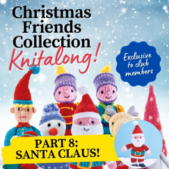 Christmas Friends Knitalong Part 8: Santa Claus Knitting Pattern