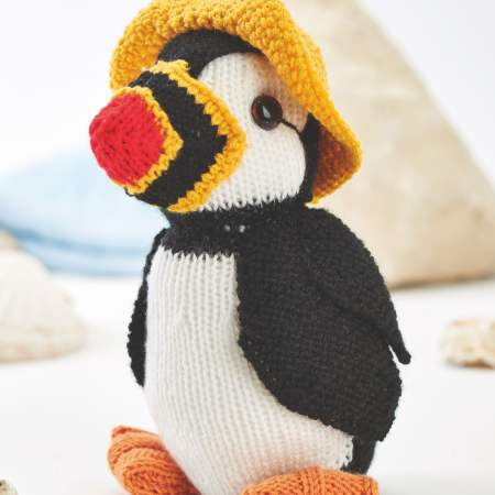 Toy Puffin | Free Knitting Patterns | Let's Knit Magazine