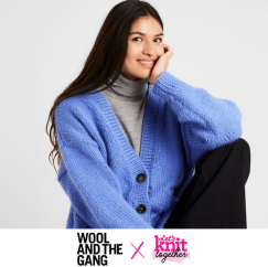 TWO WEEKS ONLY! Wool and the Gang Knitted Cardigan Knitting Pattern