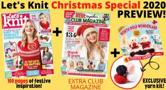 Let's Knit Magazine Exclusive Preview Christmas Special 2020 Issue 163