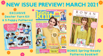 Sneak peek! Let's Knit issue 168 March 2021 preview