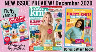 Exclusive Preview: Let's Knit issue 165 December 2020