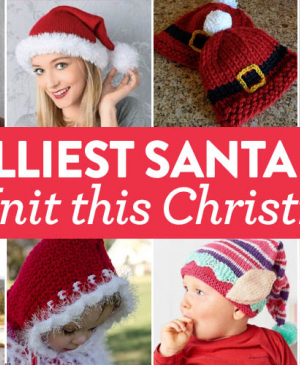 12 Jolliest Santa Hats To Knit This Christmas
