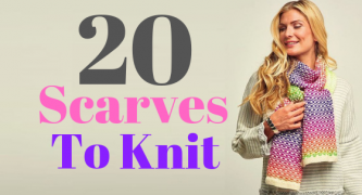20 Scarves To Knit