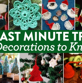 7 Last Minute Tree Decorations To Knit
