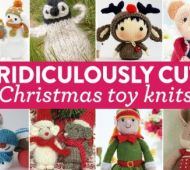 9 ridiculously cute Christmas toy knits