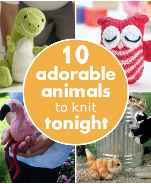 10 adorable animals to knit tonight