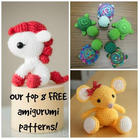 16 Extra Cute Amigurumi Knitting Patterns | AllFreeKnitting.com | 460x460