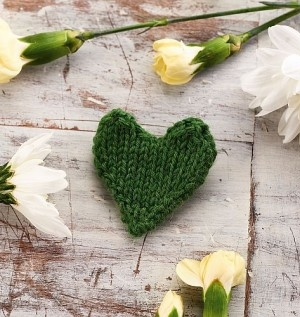 Knit A Green Heart For Climate Change Awareness!