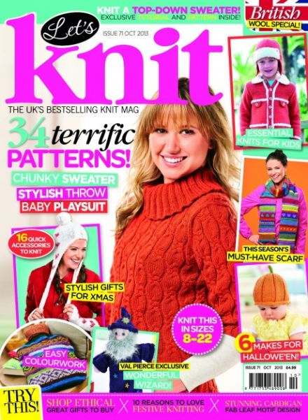 October issue of Let's Knit: out now!