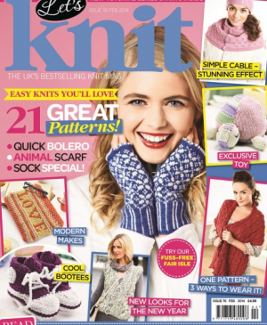 February issue of Let's Knit – on sale now!