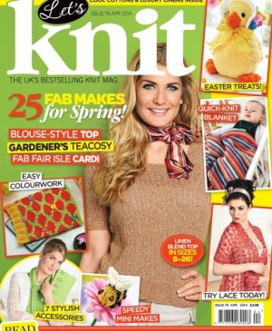 April issue of Let's Knit: out now!