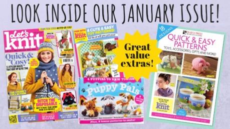 EXCLUSIVE Preview! Look inside Let's Knit Issue 140 January 2019