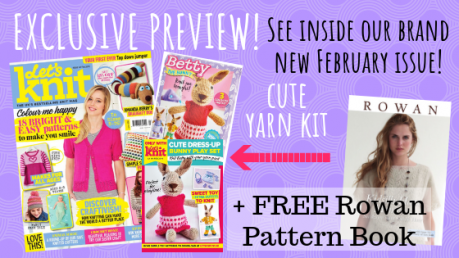 EXCLUSIVE PREVIEW: Let's Knit Issue 141 February 2019