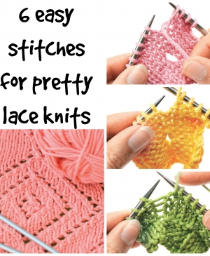 Let's Knit Masterclass: Six easy stitches for lace knits