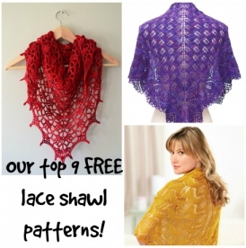 Our top 9 FREE lace shawl knitting patterns