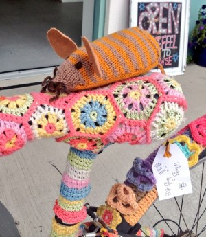Where's Woolly? The year-long yarnbombing project!