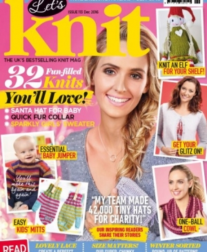 EXCLUSIVE PREVIEW! Let's Knit December issue, issue 113