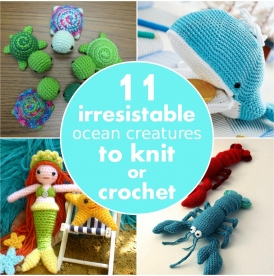 11 irresistible ocean creatures to knit or crochet