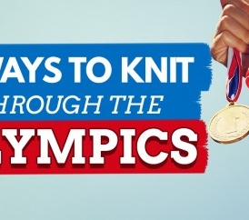 11 Ways To Knit Through The Olympics (And All The Patterns Are Free!)