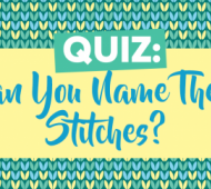 QUIZ: Can You Name These Stitches?