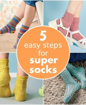 5 easy steps for super socks