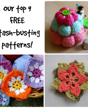 Our top 9 FREE stash-busting patterns