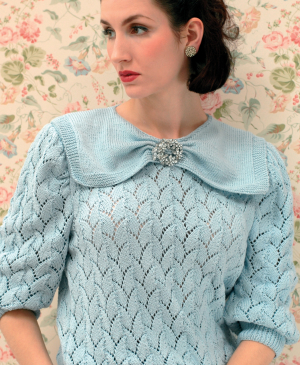 Vintage knitting styles from 1920-1949