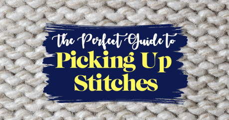 How To Pick Up Stitches In Knitting