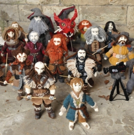 """You can't imagine the smiles I get"": Denise Salway knits The Hobbit!"