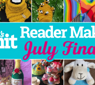 Let's Knit July Reader Makes Monthly Finale
