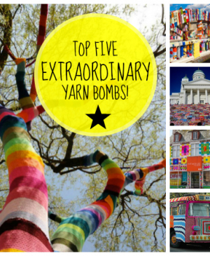Top 5 extraordianary yarn bombs