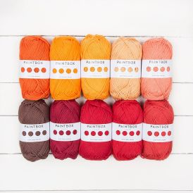 Paintbox Rouge Passion Cotton Aran Set