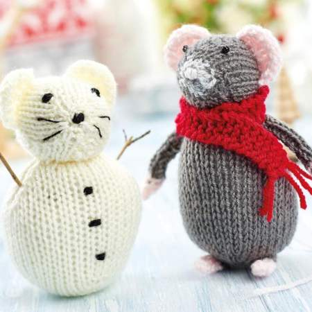 Christmas Mouse and Snow Mouse Knitting Pattern