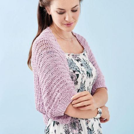 Learn to knit a drop stitch shrug