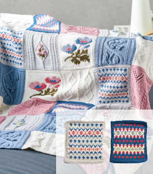 Primavera Blanket Information Sheet and Part 1: Morning Fair Isle and Midnight Fair Isle