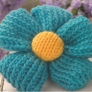 Quick knit flower brooch