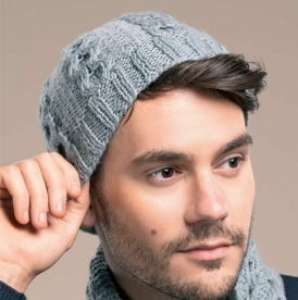 Man's hat and scarf