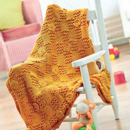 Knitted baby blanket Knitting Pattern