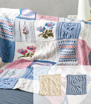 Primavera Blanket Part 3: Cable & Bobble and Leaf & Berry