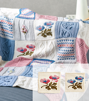 Primavera Blanket Part 4: Rose and Sky Anemone