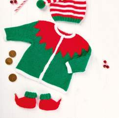 Baby Elf Costume Knitting Pattern