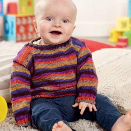 Essential Baby Jumper | Free Knitting Patterns | Let's ...