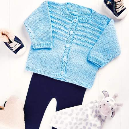 Beginners' Baby Cardigan | Free Knitting Patterns | Let's ...
