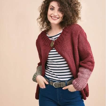 Beginners' Super Chunky Cardigan | Free Knitting Patterns ...