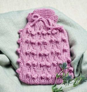 Beginners' Twist & Bobble Hot Water Bottle Cover