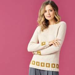 Blocks of Colour Jumper Knitting Pattern